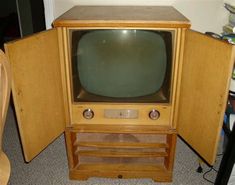 vintage tv cabinet with doors rare 1950 s emerson blond wood cabinet retro television