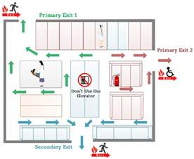 Emergency Exit Floor Plan Template by Evacuation Floor Plan For Hospital Emergency