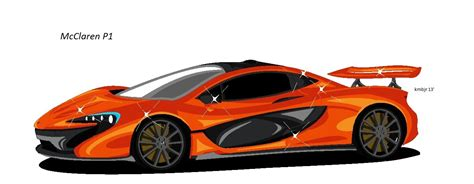mclaren p1 drawing easy how to draw the mclaren p1 ms paint youtube
