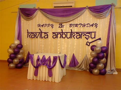 21st Birthday Decoration Ideas by Raags Management Services 21st Birthday Deco Purple White