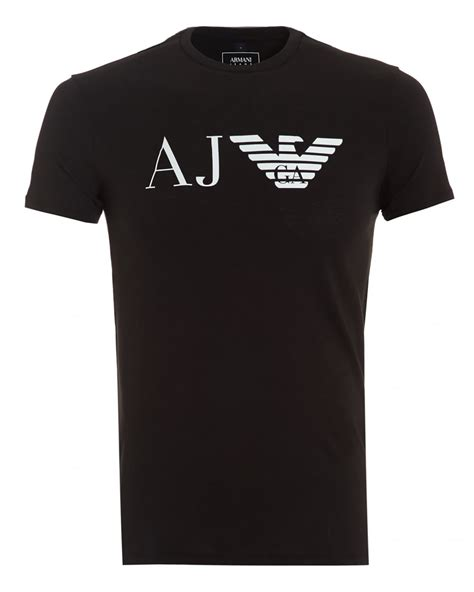 Sepatu Denim Kode Aj 82 armani mens aj logo t shirt slim fit black
