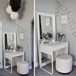 Makeup Vanity For Small Room Diy Ikea Dressing Area For Tiny Bedrooms Home Design And