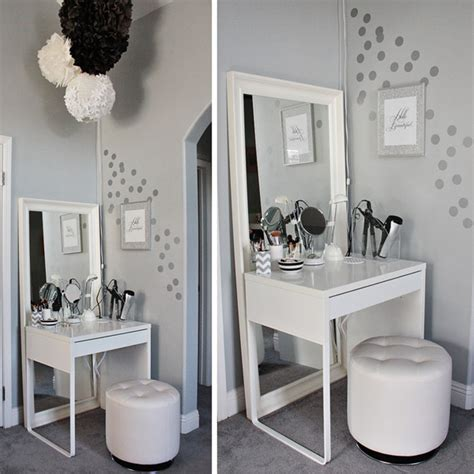makeup area in bedroom diy ikea dressing area for tiny bedrooms home design and