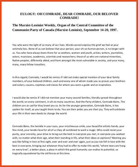 Eulogy Template eulogy template for 28 images eulogy speech