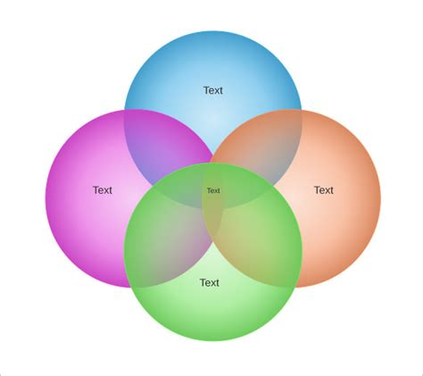 4 part venn diagram 4 circle venn diagram templates 9 free word pdf format free premium templates
