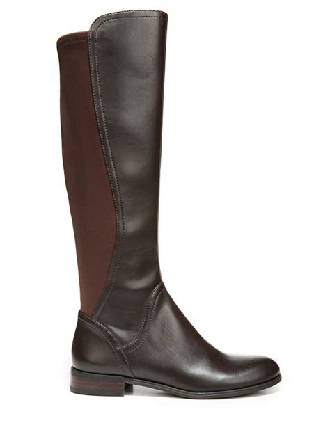 stretch out leather shoes franco sarto maleni knee high stretch faux leather boots