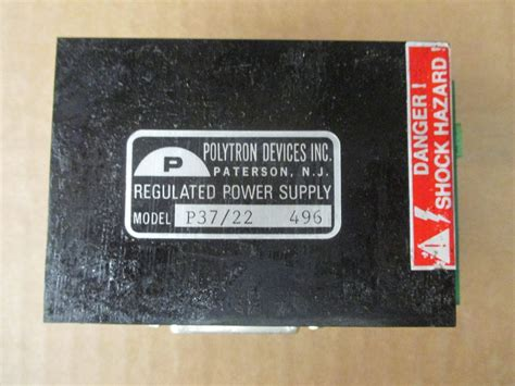 Powersupply Polytron 24d800 polytron devices p37 22 496 regulated power supply daves industrial surplus llc