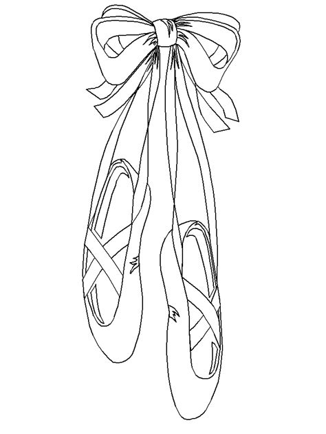 ballerina slippers coloring pages pictures of ballet slippers cliparts co