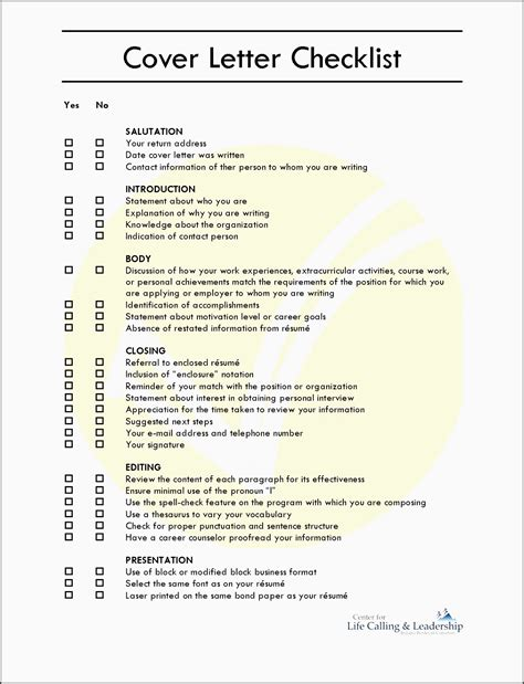 Dynamic Cover Letter Openings by 10 How To Edit Career Planning Checklist Template
