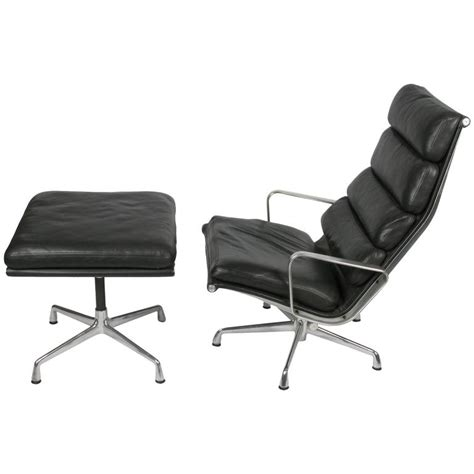 ottoman pad eames soft pad lounge chair and ottoman at 1stdibs