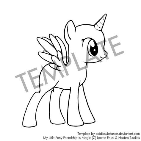 my pony template mlp base alicorn coloring pages coloring pages