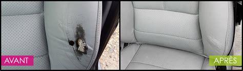 reparer trou de cigarette siege voiture service de r 233 paration cuirs auto ecolave 174