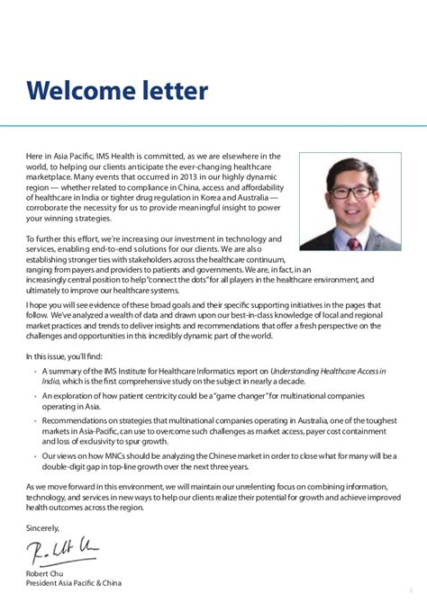 Health Insurance Welcome Letter 2014 Ims Asia Pacific Insigh