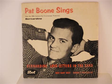 bernardine pat boone pat boone ep bernardine letters in the sand