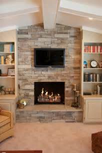 All Star Kitchen Makeover - dry stack stone veneer fireplace traditional living room chicago by north star stone