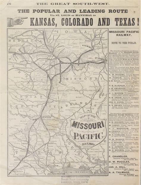 missouri pacific railroad map 29 best images about missouri pacific rr on