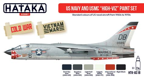 us navy and usmc high viz paint set hataka