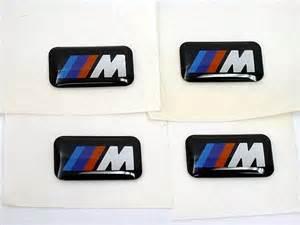bmw m sport wheel emblem badge set sticker decal ebay