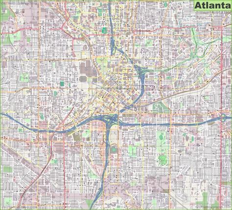 atlanta map usa large detailed map of atlanta