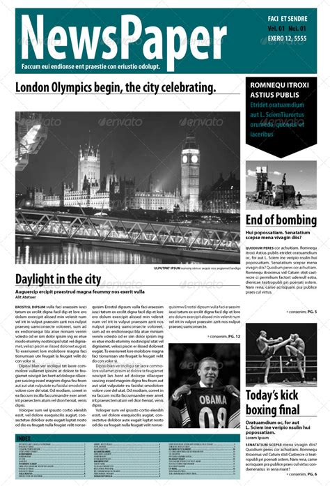 Indesign Newspaper 14 Pages By Blackinkbcn Graphicriver Indesign Newspaper Template Free