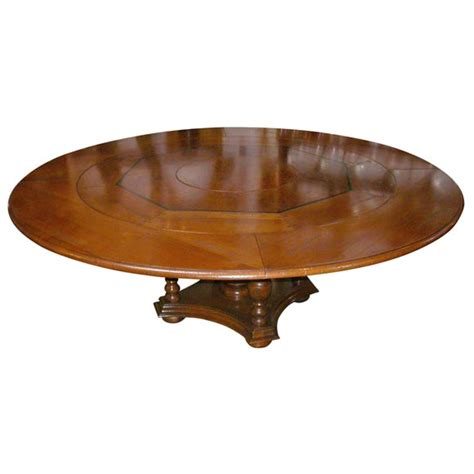 Dining Table Lazy Susan Cherry Dining Table With Build In Lazy Susan At 1stdibs