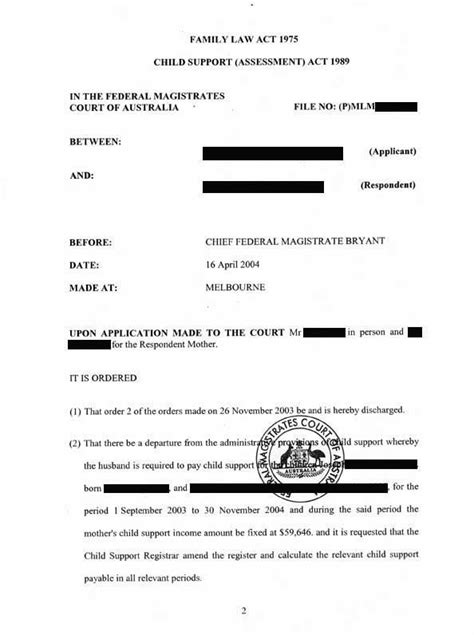 Divorce Letter Australia Dealing With The Family Court Centrelink And The Child Support Agency