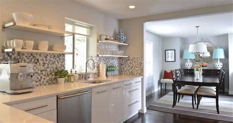 andrea johnson design kitchens gray walls high gloss