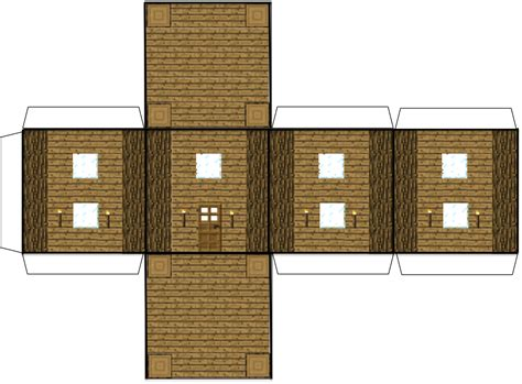 Minecraft Papercraft Big House - papercraft minecraft house