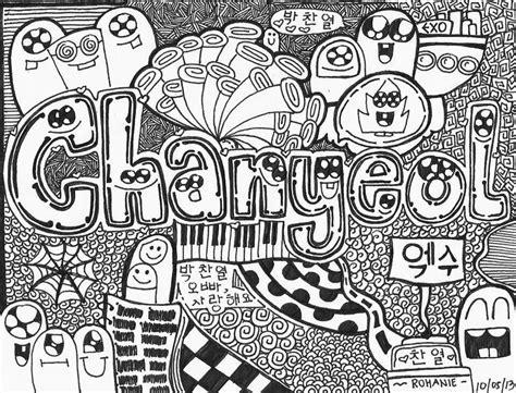 exo doodle wallpaper chanyeol doodle exo 엑소 amino