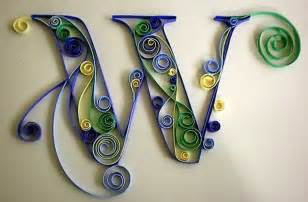 craft quilling letters on quilling letter w