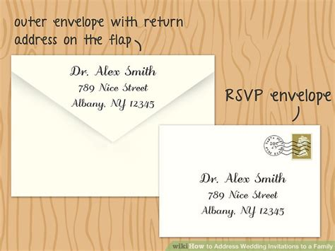 how to address a wedding rsvp card 5 ways to address wedding invitations to a family wikihow