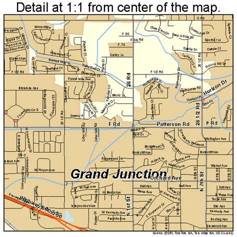 grand in colorado map grand junction colorado map 0831660