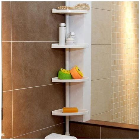 bathrom designs bathroom corner pole tidy system shelf
