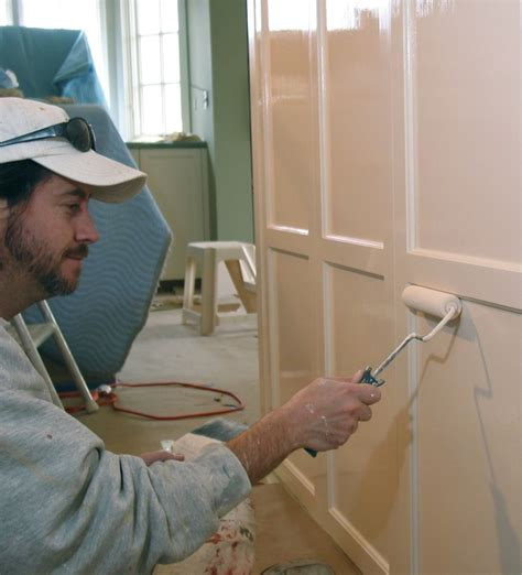 spray painting kitchen cabinet doors painting secrets of a pro finishing custom cabinets