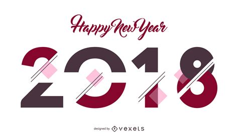 new year poster 2018 2018 new year poster sign vector