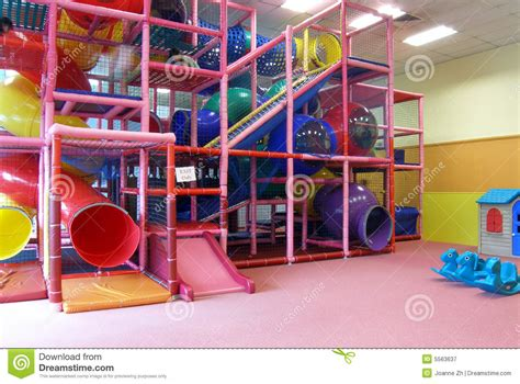 Playground Room by Indoor Children Playground In Room Royalty Free Stock