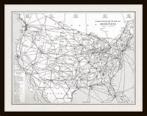 united states map with distance items similar to vintage map united states airline map