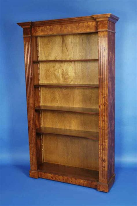 Book Shelf For Sale by Antique Style Elm Breakfront Bookcase For Sale Antiques