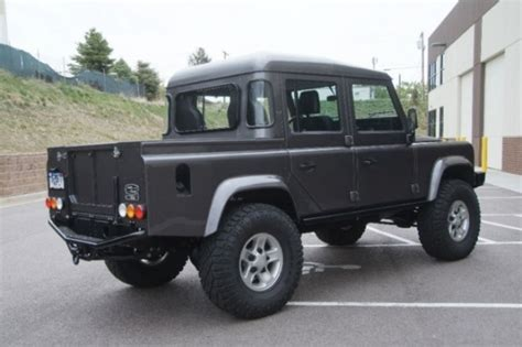 land rover truck for sale serious land rover defender 110 cab bring a trailer