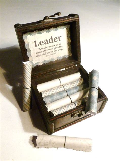 gifts for bosses for gift idea leadership scroll box motivational gift