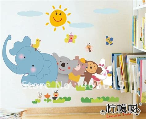 daycare wall decorations jm1005 animal removable wall sticker child room