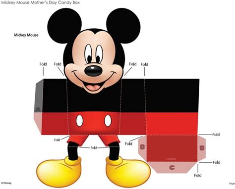 Mickey Mouse Papercraft - cajas para montar minnie buscar con minnie and