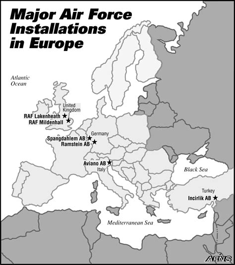 map of us bases in europe