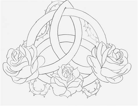 celtic rose tattoo designs celtic triquetra by angelmae423 on deviantart