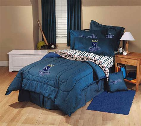 kansas city royals team denim queen comforter sheet set