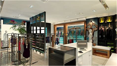 swimming wear shop interior design 3d view getidonline