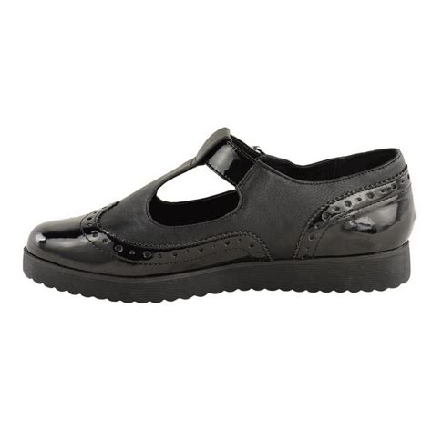black t bar dolly shoes womens new flat loafer t bar dolly