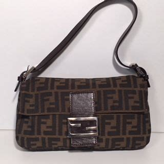 fendi vintage monogram baguette handbag shoulder bag
