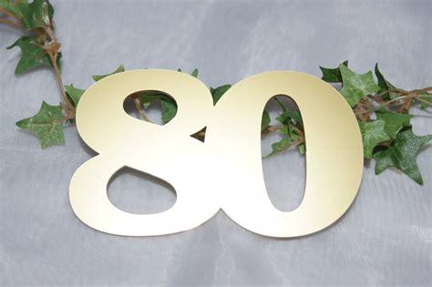 Musik 80 Videohit 80 Zona 80 zahl 80 gold die tischdekoration