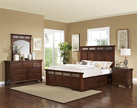 chestnut bedroom furniture madera chestnut panel storage bedroom set from new